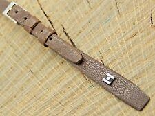 "NOS Vintage Unused Hirsch Antilope Watch Band w Silver Tone Buckle 8mm 7 3/8"" L"