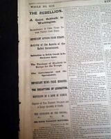 SECOND BATTLE OF LEXINGTON Army of Missouri w/ S. Price 1861 Civil War Newspaper