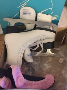 Lake Placid Deluxe Womens Leather Uppers Ice Skates Size 5 Style 691