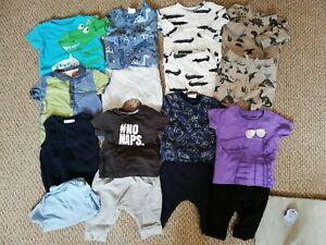 Baby Boys Next Clothes Bundle Size 0-3 & 3-6 Months T-shirts Joggers Sweaters