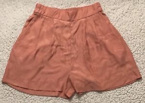 H & M Womens Juniors Pink Pull-On Back Elastic Shorts Size 2 New!