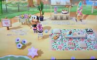 Animal Crossing new horizons beach cafe bar steaming outdoor 29 Floral