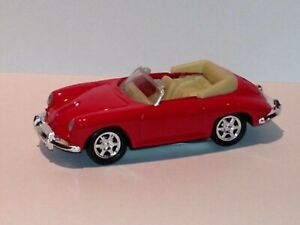 WELLY MINIATURE RED Porsche 356B Car Die Cast W/Plastic Parts Pull Back Action
