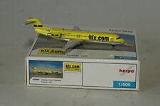 Herpa 509381 Fokker F.28-0100 Hapag Lloyd D-AGPP in  1:500 Scale