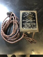 VINTAGE FERRIS ELECTRIC TRAINS TRAIN TRANSFORMER CONTROL UNIT TRACK