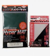 KMC bundle - 100 Perfect size sleeves + 80 Hyper mat Green