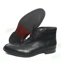 Cole Haan Men Size 9 Black Leather Chuka Boots Wing Tip Oxford C20285