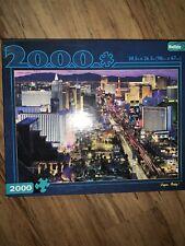 "Buffalo Games Puzzle 2000 Piece ""Vegas, Baby!"" 38.5""x 26.5""! w/BONUS POSTER"
