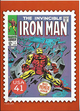 The Invincible Marvel Comics Iron Man Usps 41c Stamp Postcard