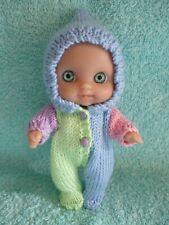 "Hand knitted set for the  5"" Berenguer Mini Lil Cutesie Doll"