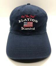Carnival Elation Crew 2003 Cap Hat Adult Adjustable Navy Blue 100% Cotton