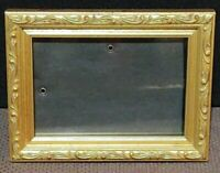 "4 1/2"" x 6 Vintage Freestanding Ornate Gold Frame"