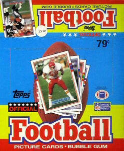 1989 Topps Football Cello - Empty Display Box - EXCELLENT