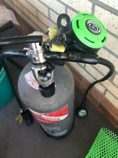 New listing Used scuba diving tank/regulator, steel 95 cubic feet. Stainless DIN fitting.