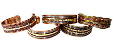 Lot of 5 Magnetic Copper Bracelet Healing Bio Therapy Arthritis Pain Relief