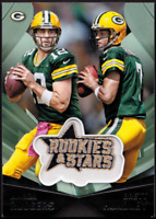 2015 Rookies and Stars Embroidered Patch #1 Aaron Rodgers Brett Hundley PACKERS