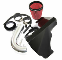 """3.5"""" RED Cold Air Intake Kit+Heat Shield fit 11-14 Ford Mustang GT/Boss 5.0L V8"""