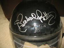 RICHARD PETTY SIGNED BLACK FULLSIZE RACING HELMET PROOF COA RARE