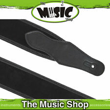 """New Xtreme 2 6/8"""" Supple Suede Leather Guitar Strap - Black Chrome Buckle Adjust"""