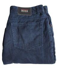 Hugo Boss - Mens Jeans - Dark Blue - Size W36 L34 100% Cotton Business Pants