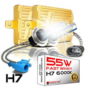 55W H7 6000K Heavy Duty Fast Bright AC Digital HID Xenon Kit Headlight Fog-light