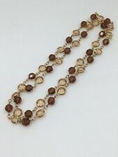 "Rhinestone citrine Bead  necklace 29""inch Long"