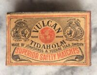 Vulcan Tidaholm Match Box Antique Jonkopings T.F.A.B Sweden Superior Safety