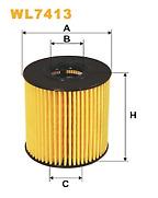 Wix WL7413 Oil Filter WF8321 Fuel Filter