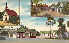 El Centro California English Village Motor Hotel Antique Postcard K35458