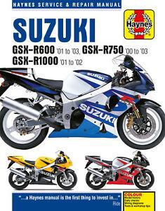 Suzuki GSX-R600 (01 - 03), GSX-R750 (00 - 03), GSX-R1000 (01 - 02) Haynes Repair