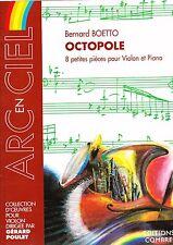 Boetto Octopole 8 pièces pour violon et piano partition