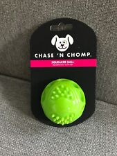 Chase 'n Chomp Squeaker Green Ball Toy for Pets - Squeaks & Floats
