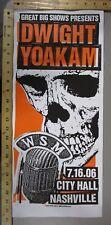 2006 Rock Concert Poster Dwight Yoakam Print Mafia SN LE 100 Nashville TN Skull