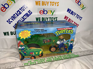 Playmates TMNT Farmer Mike and his Turtle Tractor  Michaelangelo New Opened Box