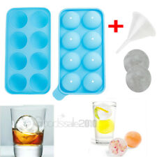 Round Ice Balls Maker lollipop Tray 8 Large Sphere Molds Cube Whiskey Cocktail