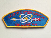 BOY SCOUT BSA CSP COUNCIL PATCH LAST FRONTIER OKLAHOMA MINT YELLOW BLUE