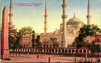 CONSTANTINOPLE, Istabnul TURKEY ~ MOSQUE of SULTAN AHMID c1910s Postcard