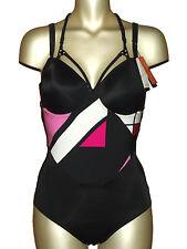 MARLIES DEKKERS maillot de bain-Combishort Tangram 75d 75 D Black + Colours NEUF 95 €
