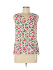 Modcloth Garden Floral Pink Red Roses Tank Top M Summer!
