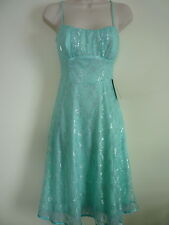 New Ruby Rox womens S 4 5 blue silver empire waist cocktail evening formal dress