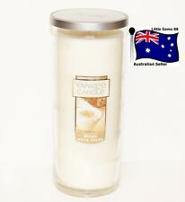 YANKEE CANDLE Spiced White Cocoa LARGE CHRISTMAS 165 HOURS GLASS PERFECT PILLAR