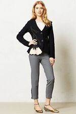 ANTHROPOLOGIE MOONFLOWER JACKET BY ROSIE NEIRA BOILED WOOL SWEATER SIZE XSP
