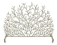 "Fireplace Screens - ""Rainbow Reef"" Coral Design Fire Screen - Antique Ivory"