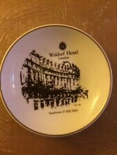 Small Collector Saucer/Change Plate, Waldorf Hotel London