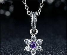New European Silver CZ Charm Beads Fit sterling 925 Necklace Bracelet Chain j5c9