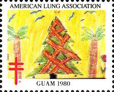 USA postfrisch MNH Weihnachten 1980 Guam Kinder Gemälde Baum Palme Vogel Blume