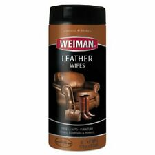 """Weiman Leather Cleaning Wipes, 7"""" x 8"""", 30 Wipes/Canister (WMN91)"""