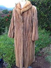 Vintage Golden Russian Sable Coat Women Size 6-8