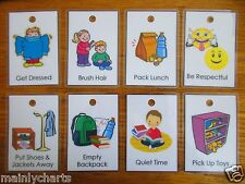 10 Chore Cards with Chore Pictures, Standalone cards no Chart Needed, PECS, ASD