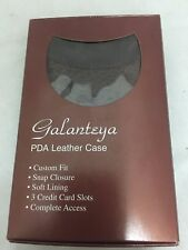 Galanteya Alligator Patterned Flip Cover PDA Case - Dark Tan for iPAQ PDAs